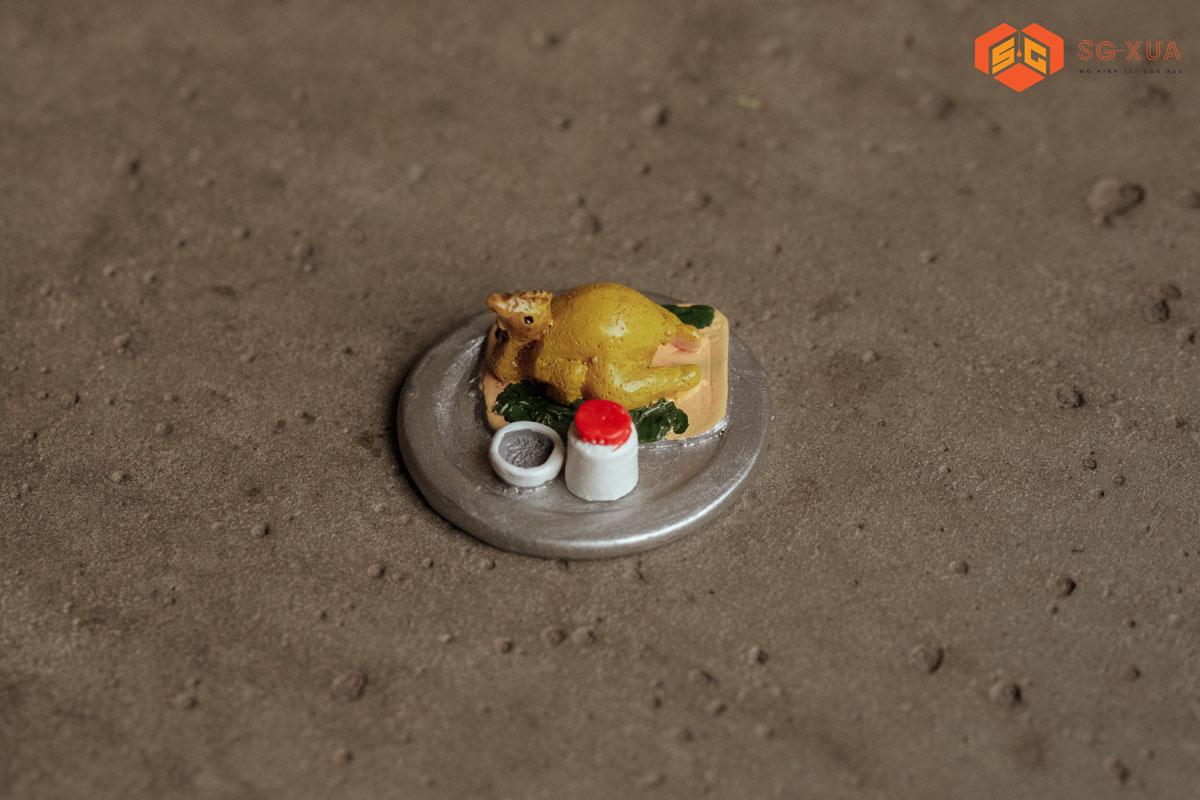 Gà hấp muối tiêu – Mô Hình Sài Gòn Xưa