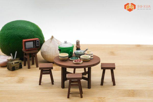 Bộ cơm nhà – Mô Hình Sài Gòn Xưa