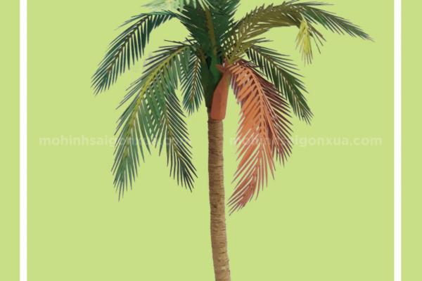 Cây dừa lớn – Mô Hình Sài Gòn Xưa