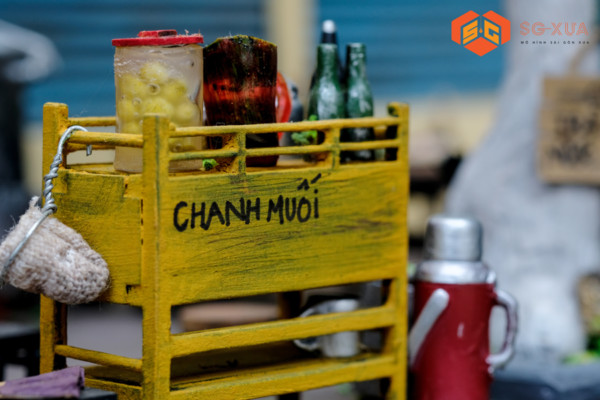 Bộ tủ chanh muối (không bao gồm tượng người) – Mô Hình Sài Gòn Xưa