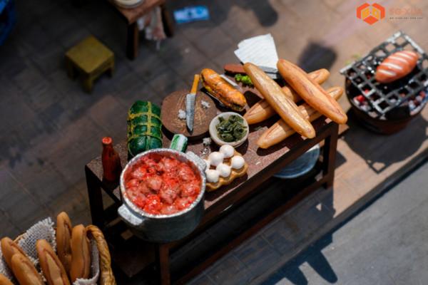 Bộ bánh mì xíu mại – Mô Hình Sài Gòn Xưa