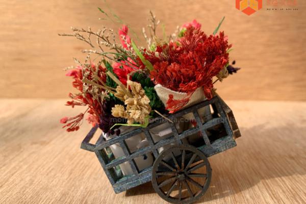 Xe bán bông – Mô Hình Sài Gòn Xưa